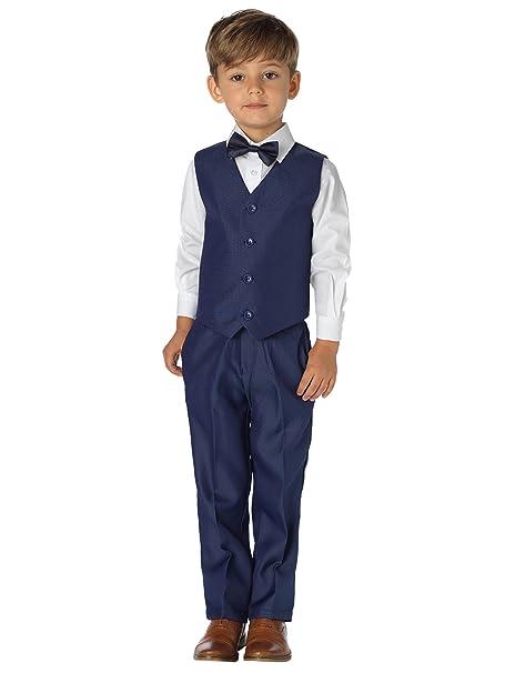 Shiny Penny - Traje - para niño Azul Camisa Lisa Blanca 3-6 ...