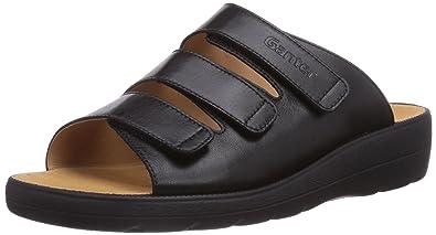 Ganter SONNICA, Weite E, Damen Pantoletten, Schwarz (schwarz 0100), 42.5 EU (8.5 Damen UK)