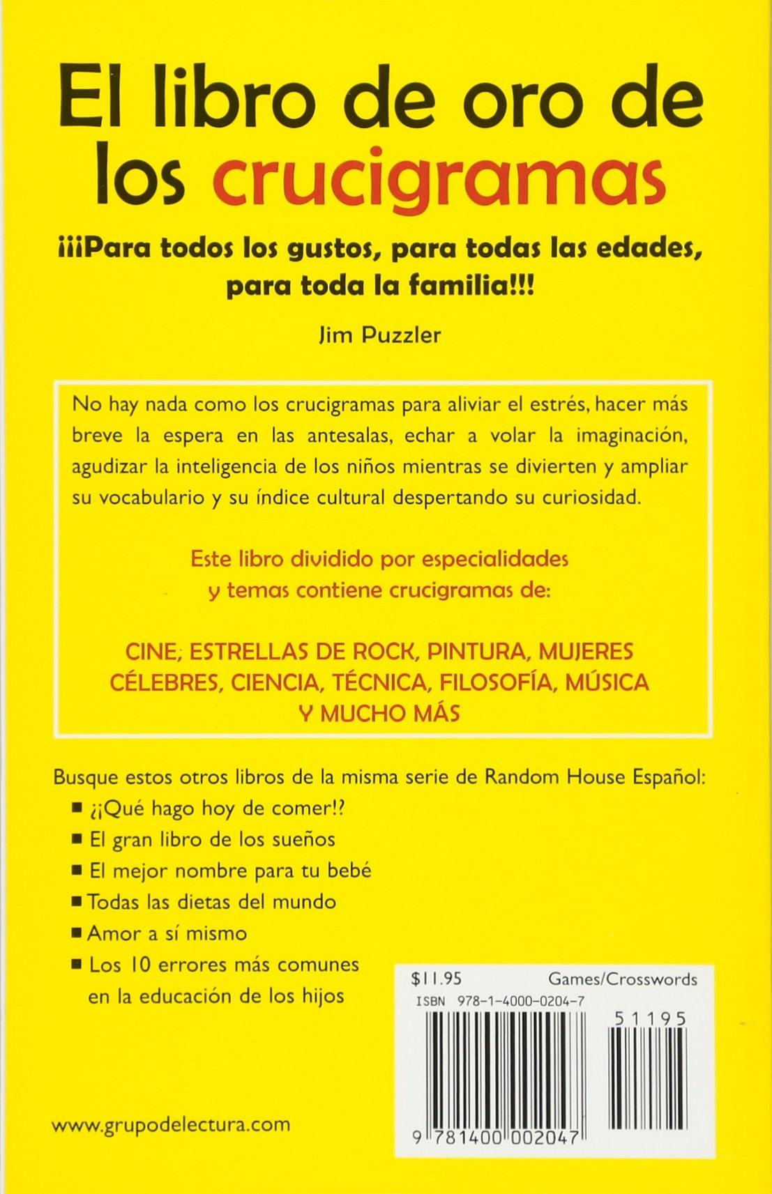 El Libro Oro De Los Crucigramas  Amazon.es  Jim Puzzler  Libros 3f1fe78ecd7