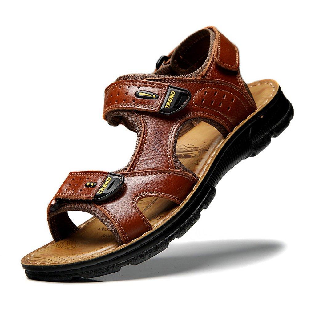 UBCA-TBA Hook Summer Retro Sandals Men Leather Sandals Hook UBCA-TBA Loop Beach Shoes B07FM9LJRS Sandals 71a8ea