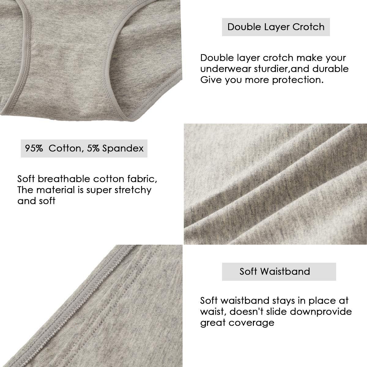 Annenmy Womens High Waist Cotton Underwear Soft Brief Panties Regular and Plus Size