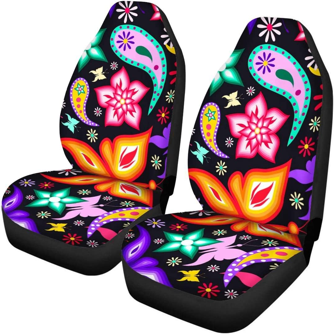 Amazon Com Joaifo Beautiful Butterfly Car Seat Covers For Women Universal Girly Car Seat Cover Waterproof Front Seat Protectors Fit Sedan Suv Truck Most Cars Automotive