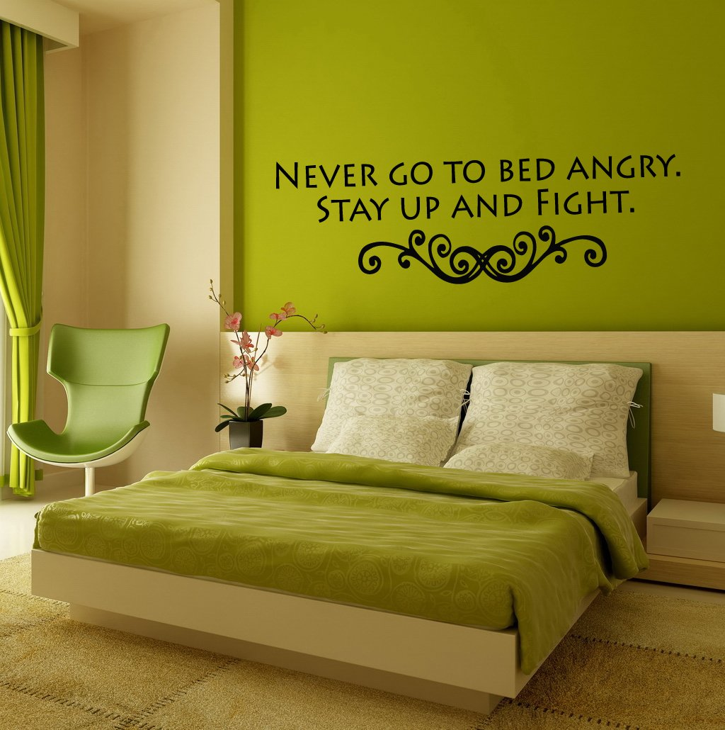 Amazon.com: Wall Mural Vinyl Sticker Decal Never Go To Bed Angry ...