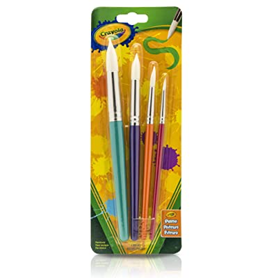 Crayola Kids Paint Brushes, 4 Count: Toys & Games