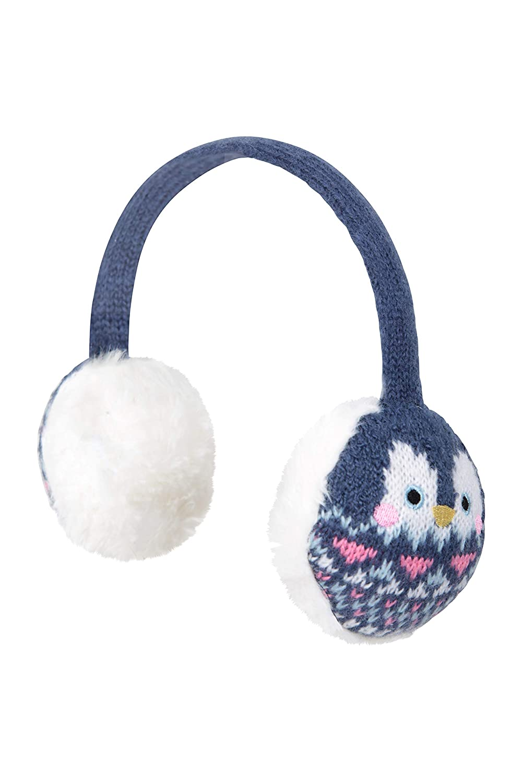 Walking /& Outdoors Best for Winter Travelling Warm Childrens Ear Muffs Lightweight Mountain Warehouse Penguin Knitted Kids Earmuffs Cosy