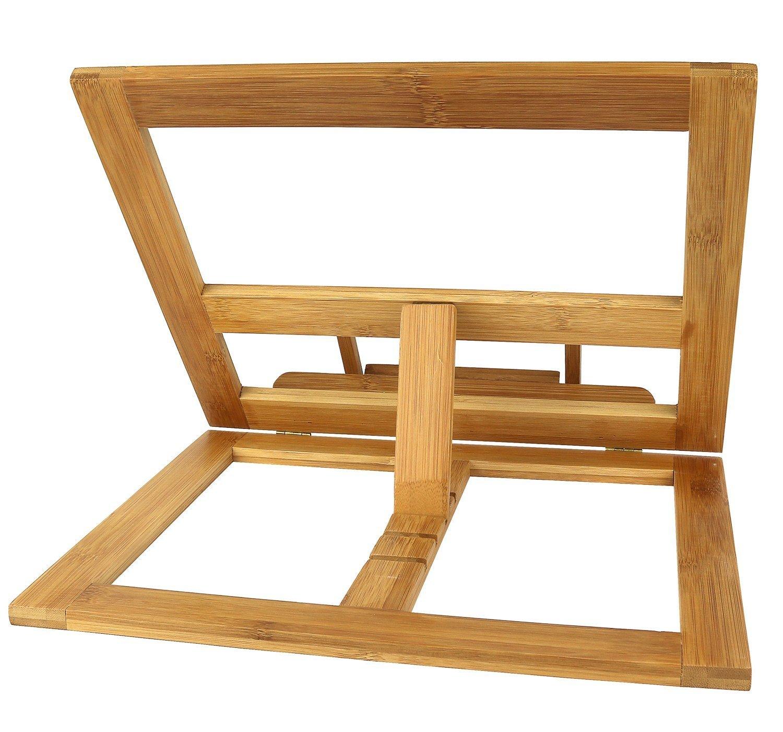 Greenco Bamboo Foldable Recipe Book Stand Fоur Расk