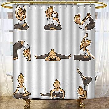 Amazon.com: Anhounine - Cortina de ducha de yoga, colección ...