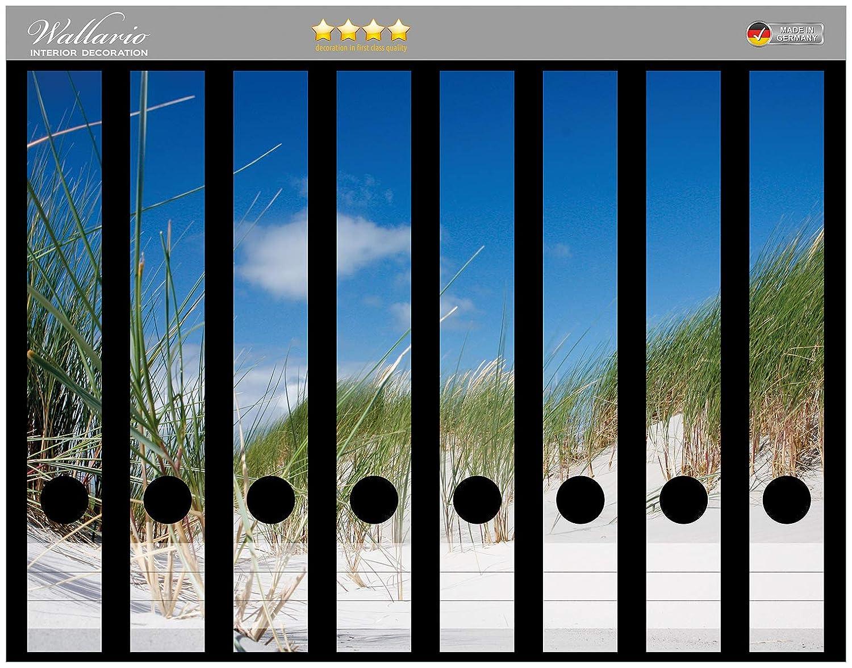 Strandkorb Strand Meer Wallario Ordnerrücken selbstklebend für 9 breite Ordner