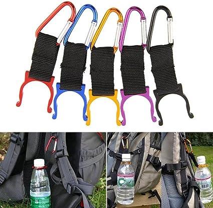 3PCS Carabiner Water Bottle Buckle Hook Holder Strap Belt Clip Camping Outdoor