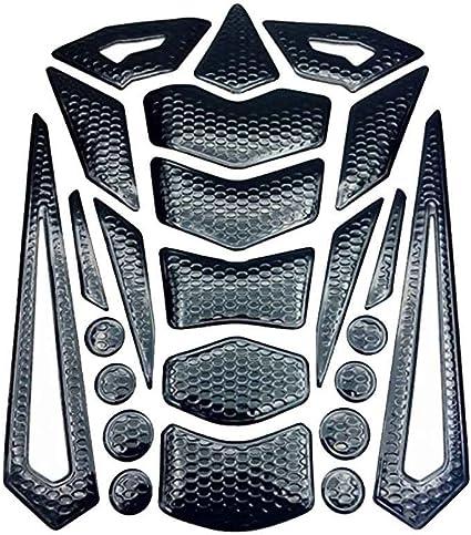 Bomcomi Moto Olio del Serbatoio di combustibile della Protezione del Rilievo Copertura Paster Pesce Stile dellosso Decalcomanie degli autoadesivi per Honda Yamaha
