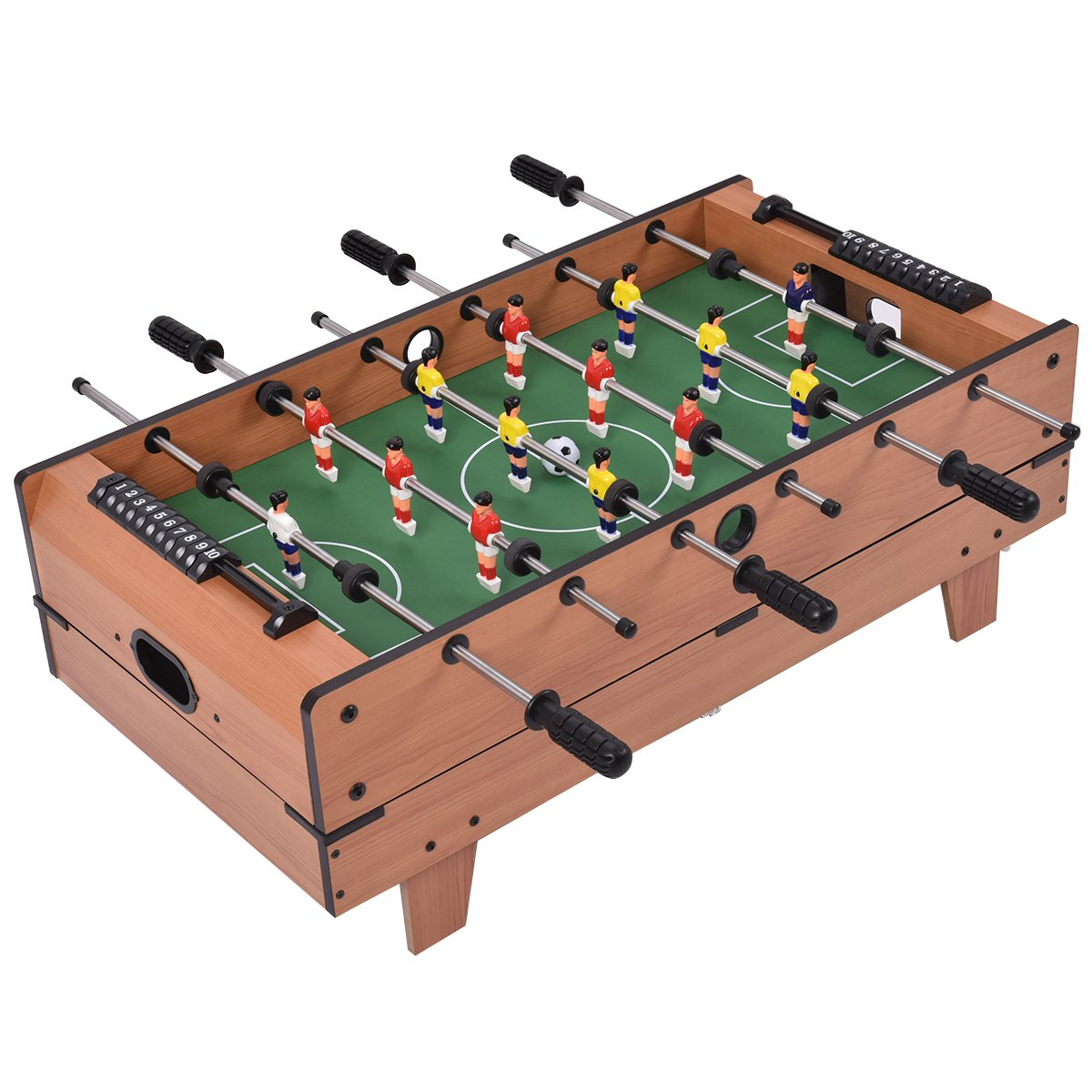 Table multi-jeux 4 en 1 Baby-foot Tennis de table Hockey et Billard Gain de place Blitzzauber24