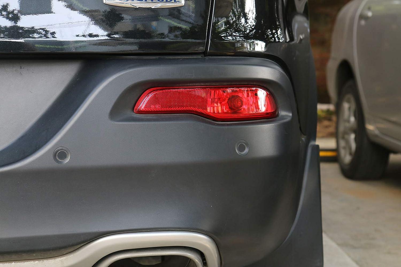 Artudatech For Jeep Cherokee 2014-2016 Red Lens Rear Bumper Reflector Fog Brake Light Left
