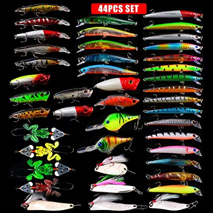 LENPABY 20pcs classic Luya bait set mino bait mixed road bait set Fishing Lures Kit Fishing Tackle Box