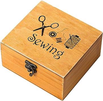 rosenice - Costurero de madera, diseño vintage: Amazon.es: Bricolaje y herramientas