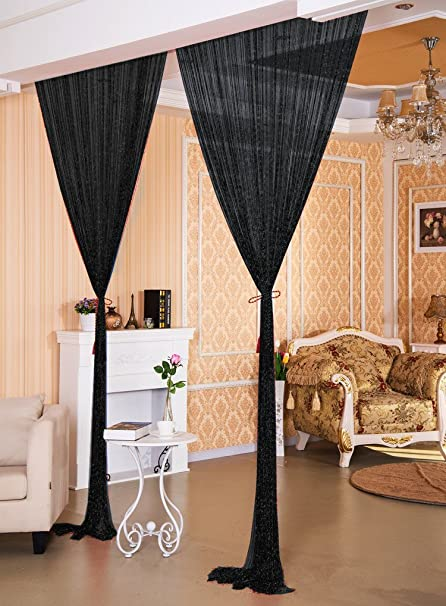 AIZESI 90 X 200cm String Curtains Panel Fly Screen Door CurtainDoorways Divider For