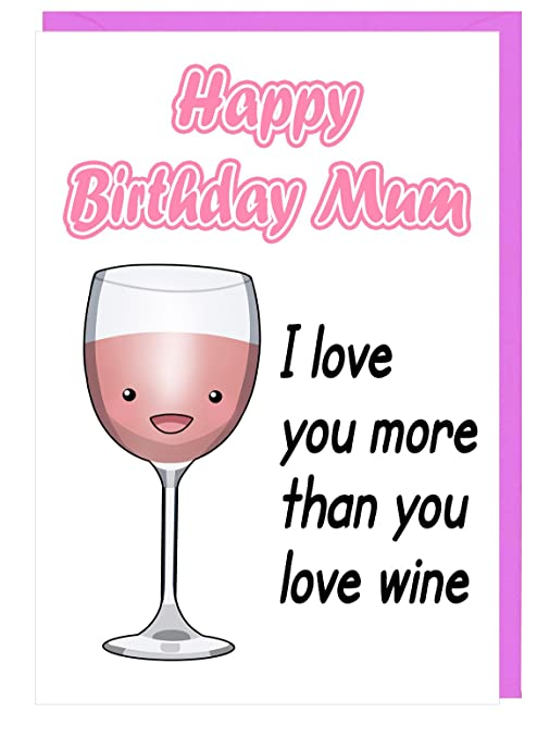 Tarjeta de felicitación de cumpleaños para mamá con texto en ...