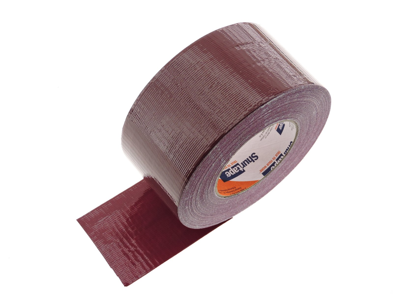 Shurtape 3'' in Burgundy Maroon Duct Tape PC-600 Heavy 9 mil Cloth Reinforced PE Back Duct Tape Water UV Resistant Hand Tearable 60yd USA Made 50 oz inch adhesion 16% elongation 22 lb in tensile