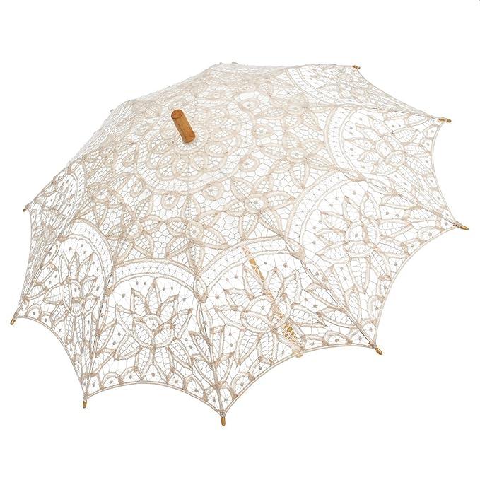 Make a Victorian Carriage Parasol  Lace Umbrella Wedding Parasol Embroidery Victorian Costume Accessory                               $22.89 AT vintagedancer.com