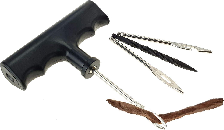 Stix Reifen Reparatur Satz Set Anh/änger 4-tlg Einstichnadel Fr/äser Pannenset Auto