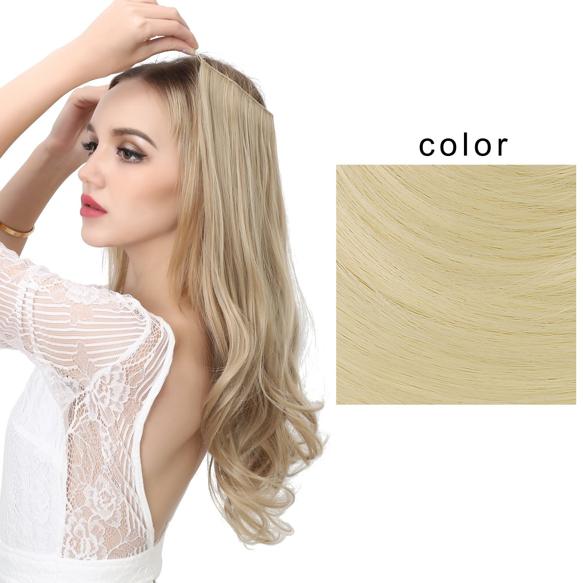 Amazon Sarla Synthetic Hairpieces Flip In Women Hair