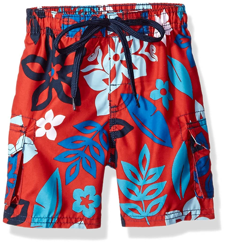 Kanu Surf Boys' Revival Floral Quick Dry Beach Board Shorts Swim Trunk