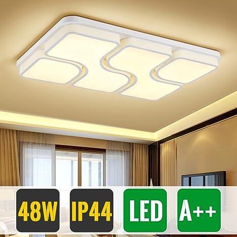 HG 48W Lámpara para dormitorio Lámpara de techo LED Blanco ...