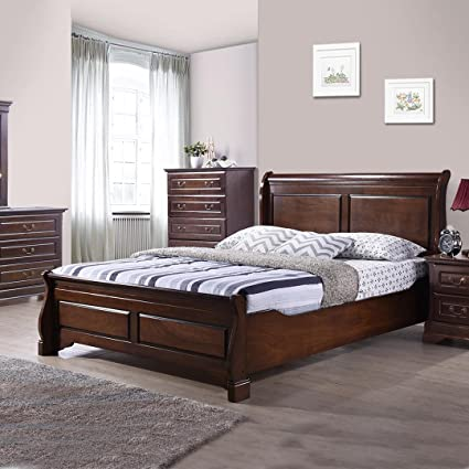 Royaloak Sydney Queen Size Bed Cappuccino Amazon In Home Kitchen
