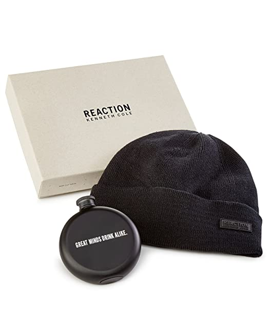 Kenneth Cole Reaction Men s One- Beanie Flask Gift Set Black One Size ae40b3883c0