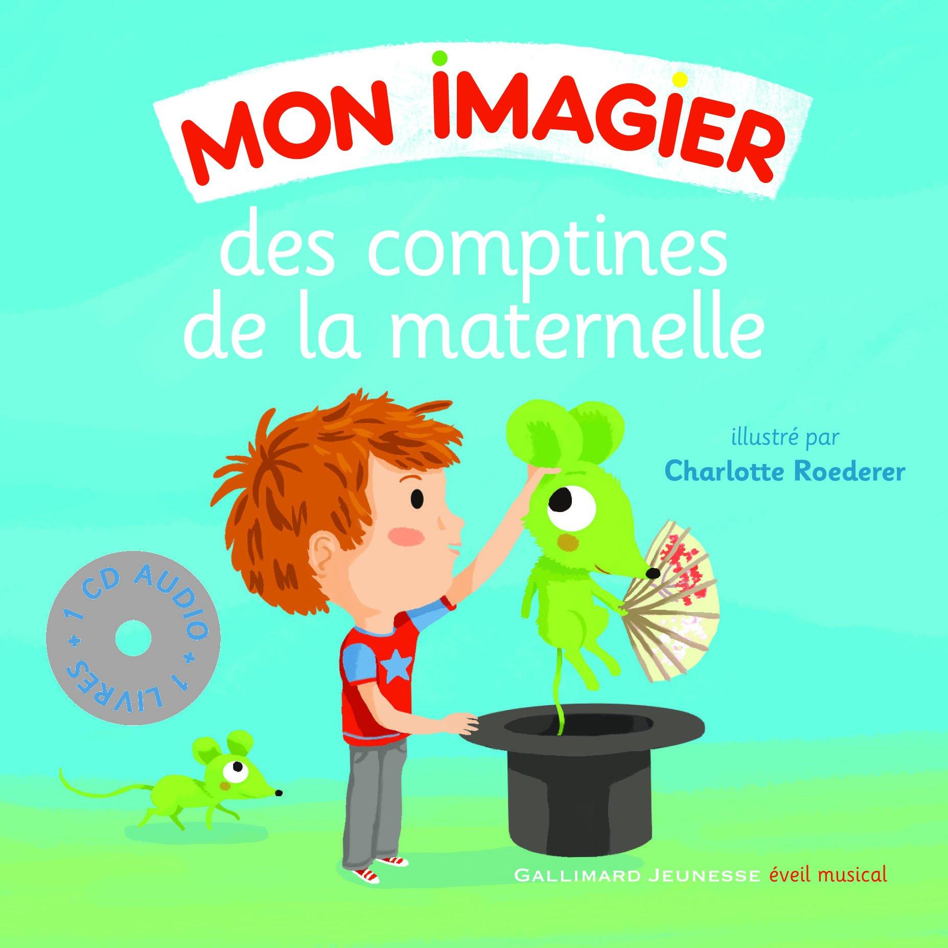 Mon Imagier Des Comptines De La Maternelle Livre Cd Amazon