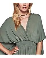 DaveDu NEW vestidos da marca das mulheres de nova chegada bohemian solto cintura halter dress backless