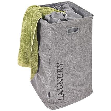 Aquanova Evora Wasmand.Evora Aquanova Grey Fabric Laundry Basket Amazon Co Uk