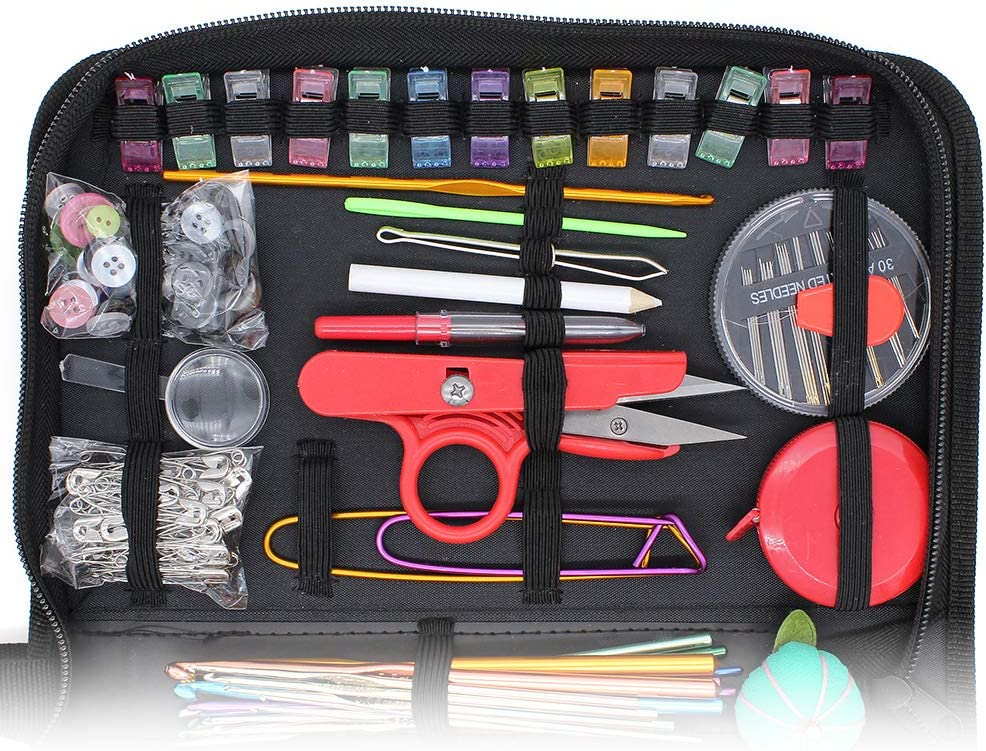Thread 282 Pcs DIY Sewing Supplies Portable Needlework Sewing Tools Needles DingGreat Premium Sewing Kit Scissors Needlse Threaders for Home Travel and Emergency Use Pins