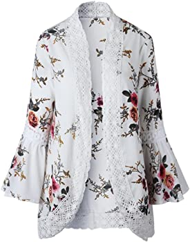 DEELIN Chaqueta De La Chaqueta del Kimono De La Chaqueta Floja De ...