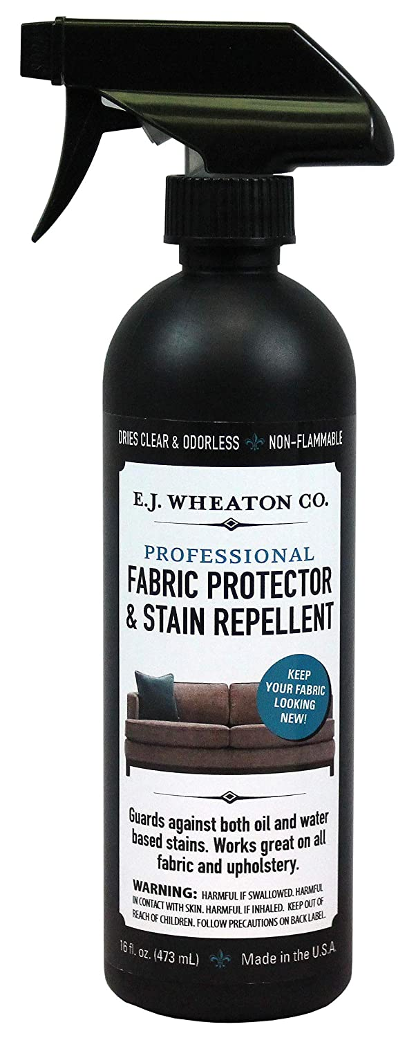 E.J. Wheaton Co. Fabric Protector, Stain Repellent & Spill Guard, For Use on Furniture, Carpets or Any Fabric Upholstery, 16 Oz. Bottle
