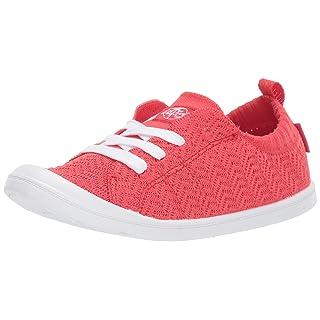 Roxy Women's Bayshore Knit Slip On Sneaker Shoe, red, 8.5 M US