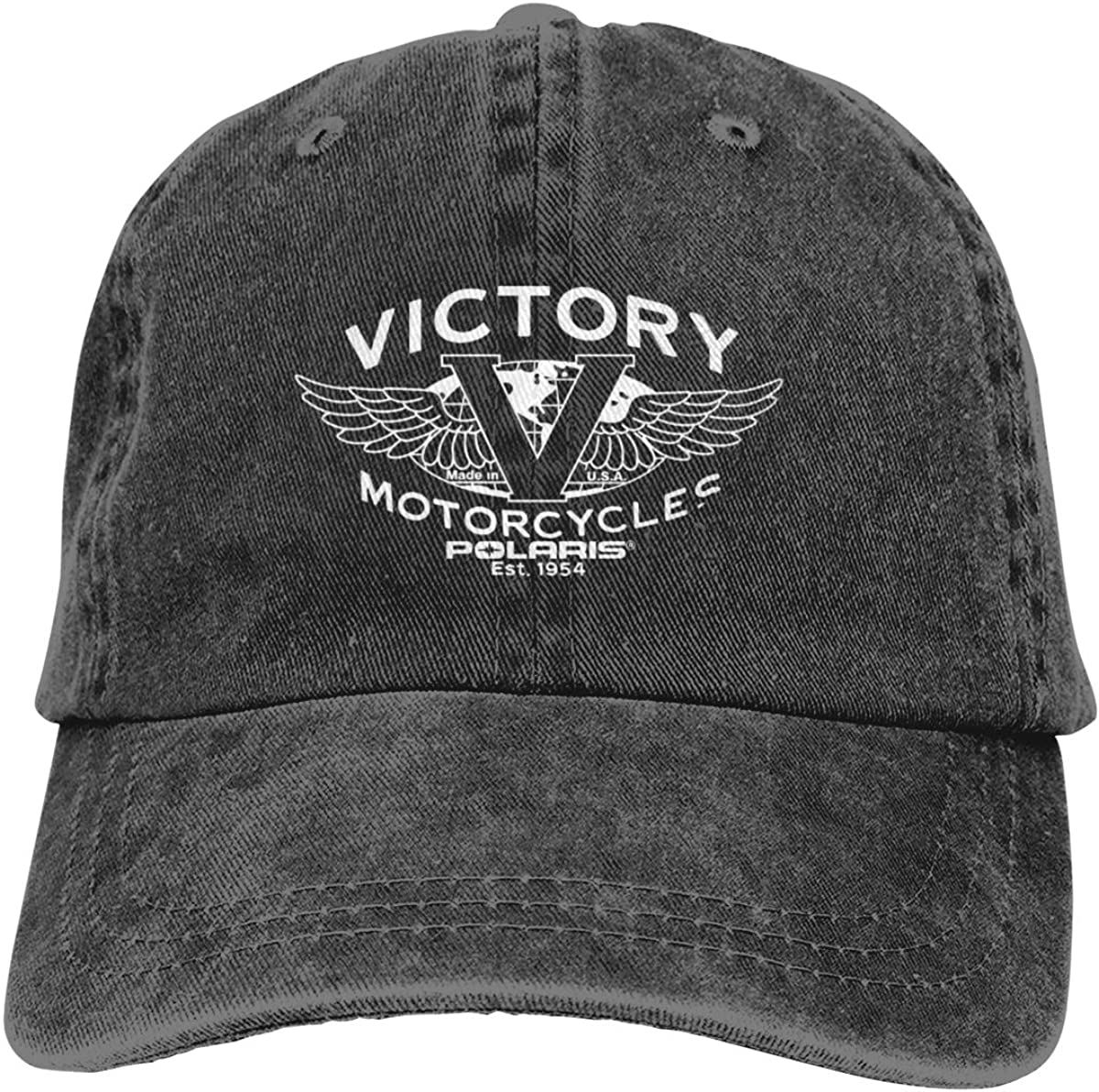 Yestrong Man /& Female Unisex 3D Print with Victory Motorcycles Polaris Classic Denim Hat Adjustable