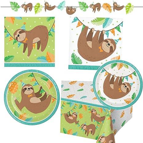 Amazon.com: Suministros para fiestas de cumpleaños de Sloth ...