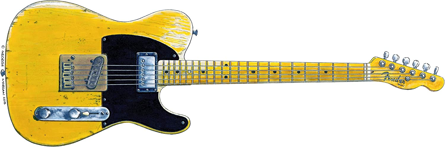 Keith Richards' Fender Telecaster Micawber Greeting Card, DL Size: Amazon.co.uk: Kitchen & Home