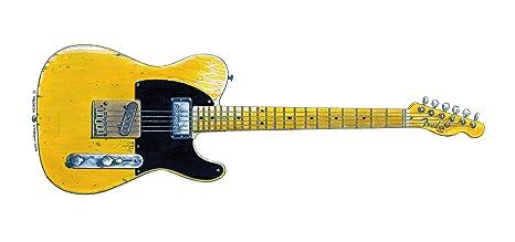 Tarjeta de felicitación de Keith Richards Fender Telecaster Micawber, DL tamaño