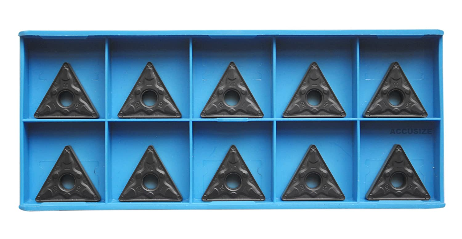 Accusize Industrial Tools Tnmg332 Carbide Inserts Cvd Coated Black//Yellow 10 Pc 2222-1034