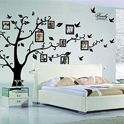 Pegatinas de pared Lisdripe, pvc, negro, Family Tree Photo Fames. Pasa ...