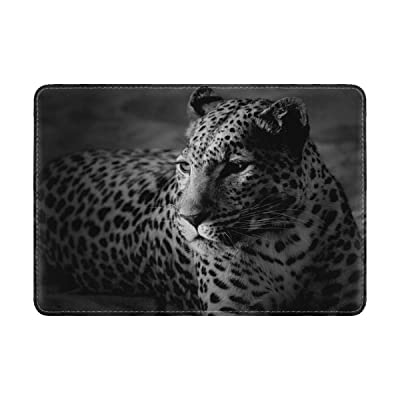 Leopard Color Spotted Black And Leather Passport Holder Cover Case Travel One Pocket