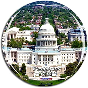 Weekino USA America United States Capitol Washington Fridge Magnet 3D Crystal Glass Tourist City Travel Souvenir Collection Gift Strong Refrigerator Sticker