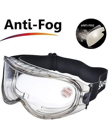 bd88d52cc0 SAFEYEAR Laboratorio Gafas Protectoras de Seguridad de Obra gafas proteccion  [Cinta ajustable] SG007 con