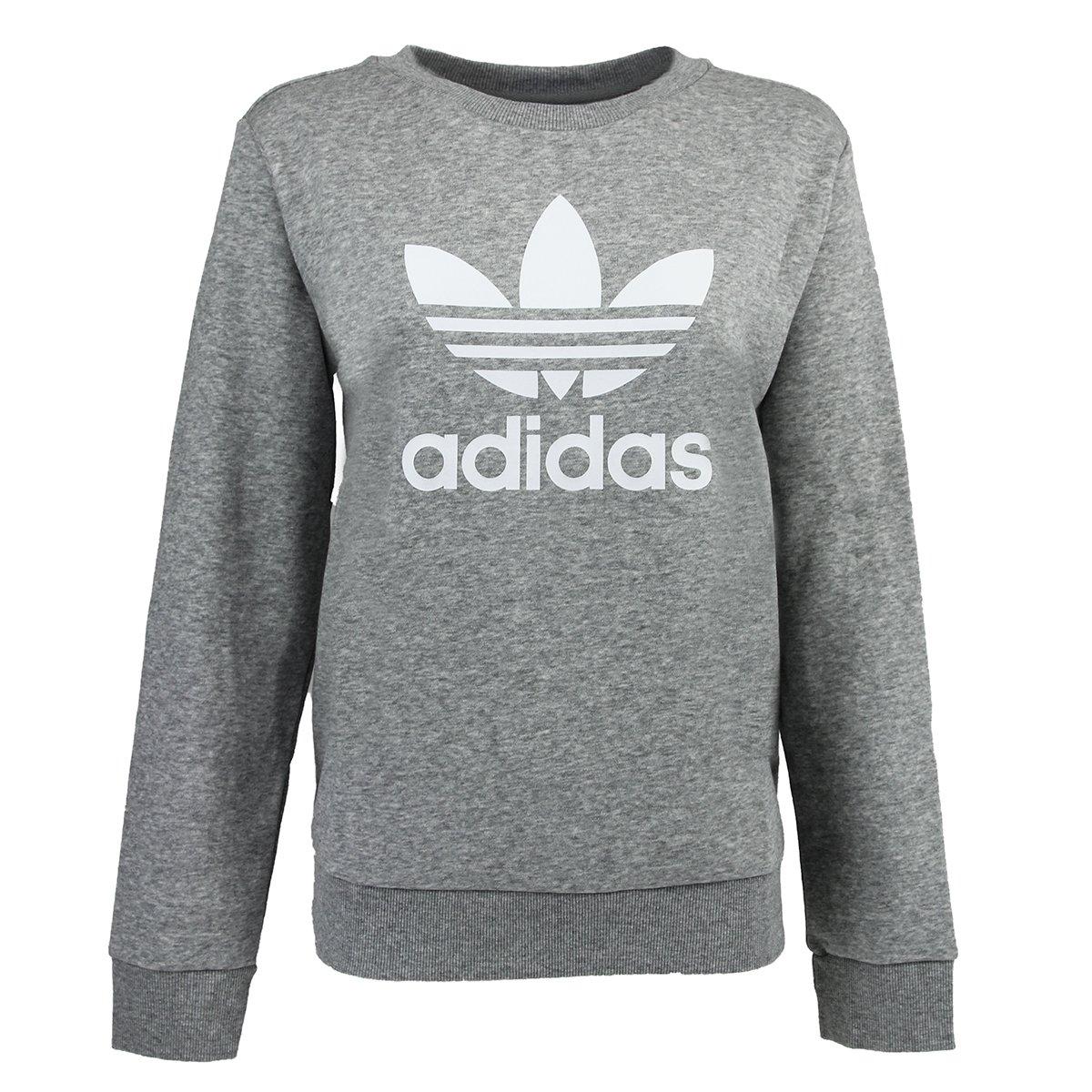 adidas Originals Womens Chiffon Crewneck Sweatshirt Sweater Pullover Jumper Top