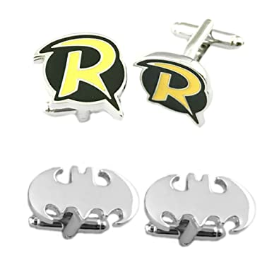 Jewelry Sets & More High Quality Popular Souvenir Cufflinks Silver Plated Superhero Batman Shirt Brand Cuff Buttons For Mens Halloween Gifts Reasonable Price