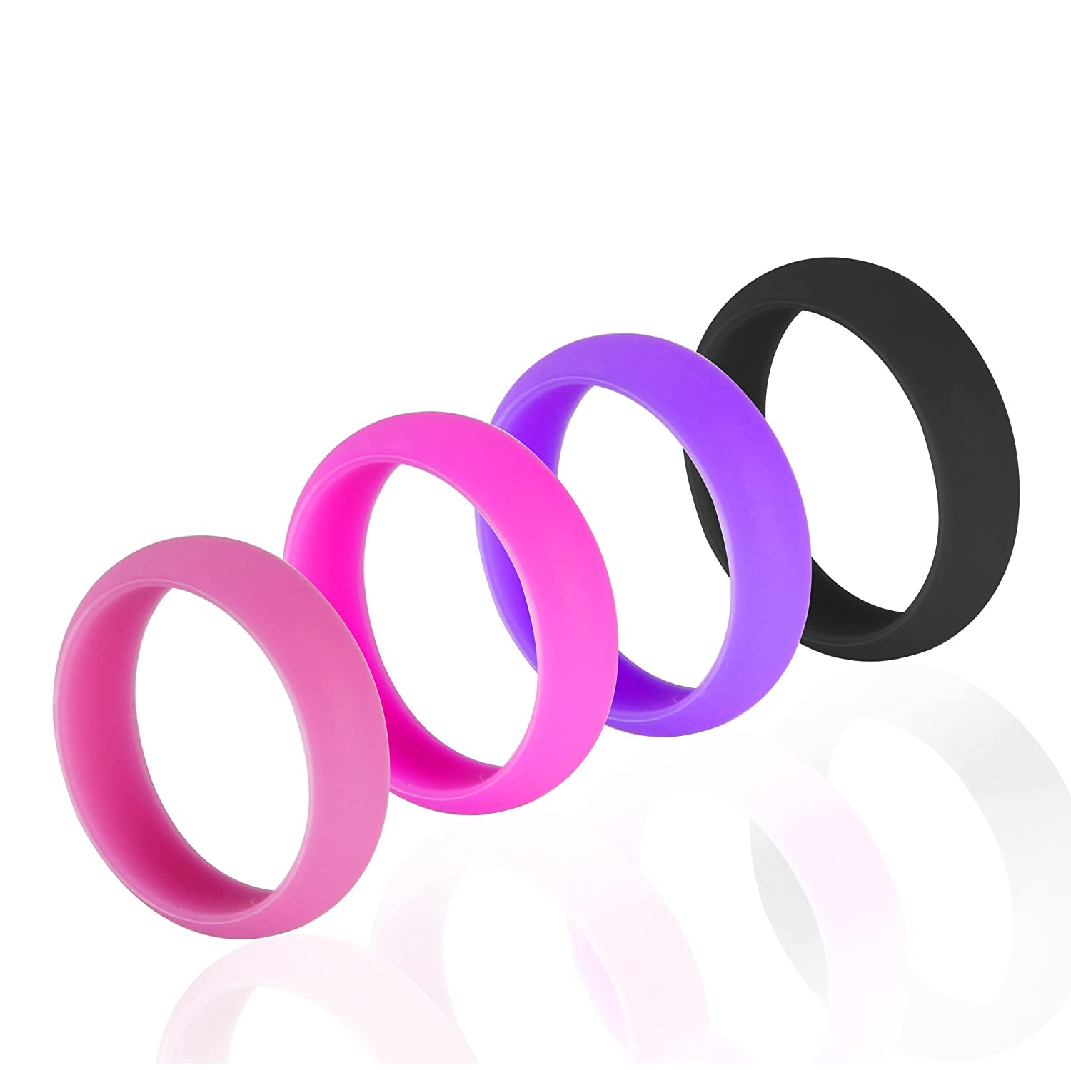 Amazon.com: Silicone Wedding Ring Band Premium Quality for Active ...