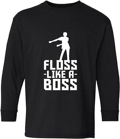 Floss Like a Boss Funny Emote Flossing Dance Girls Fitted Kids T-Shirt Tstars