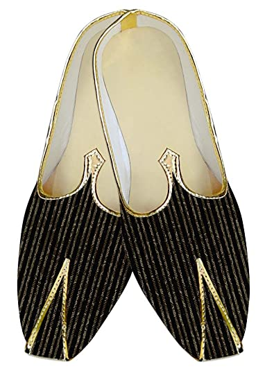 Mens Black Wedding Shoes Printed Lining MJ010560