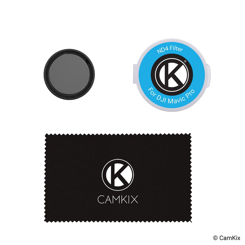 ND4 Video Mejorada para Baja Velocidad del Obturador Filtro de Densidad Neutra Camkix/® ND4 Filtro Compatible con dji Mavic Pro//Platinum un Filtro de Almacenamiento de contenedores
